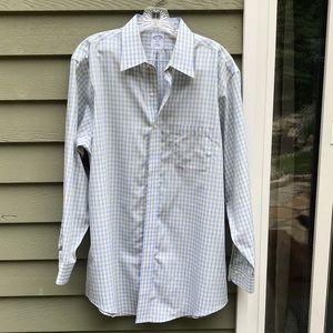 Brooks Brother Casual Dress Shirt Sz 16 1/2-2/3